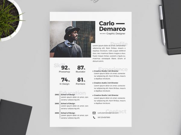 Graphic Designer Free Resume Template