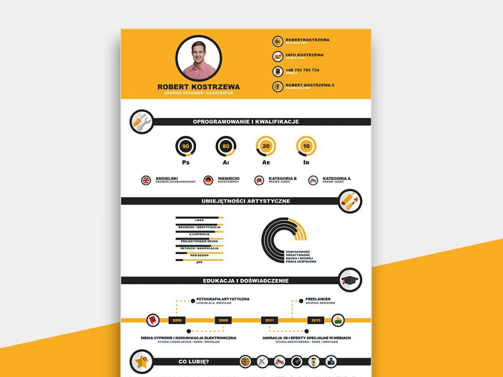 Infographic Resume Template Free Download - ResumeKraft