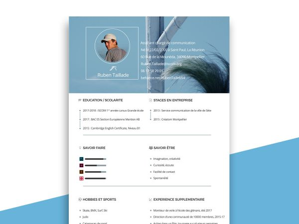 Free Resume CV Templates In Photohsp PSD Format 2019