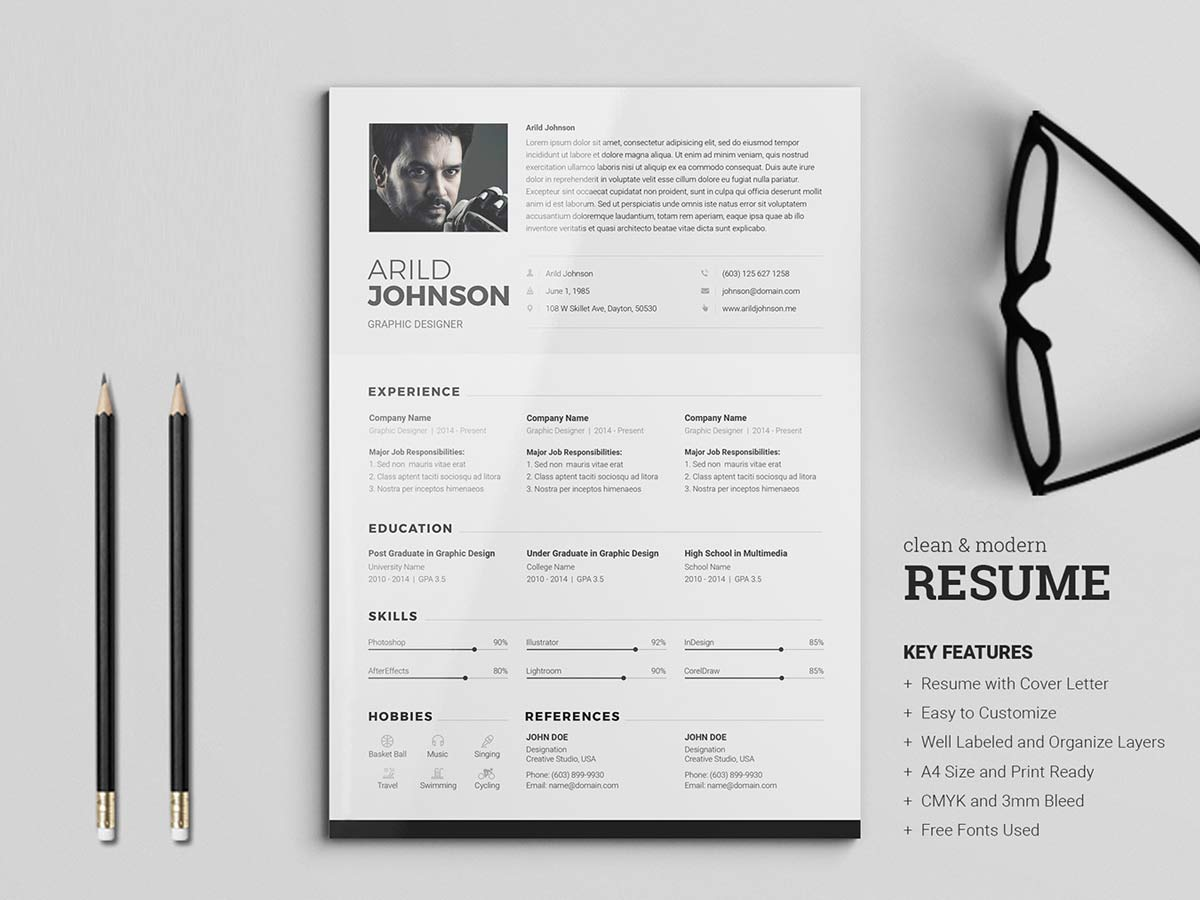 free professional resume template  download