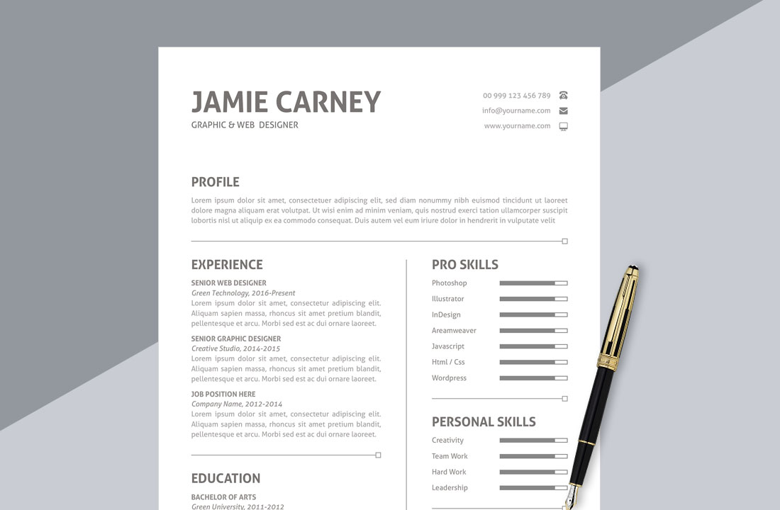 Simple Resume Format Download In Ms Word Resumekraft