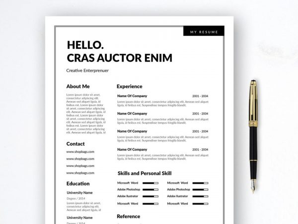 Simple 2 Column Free Resume Template