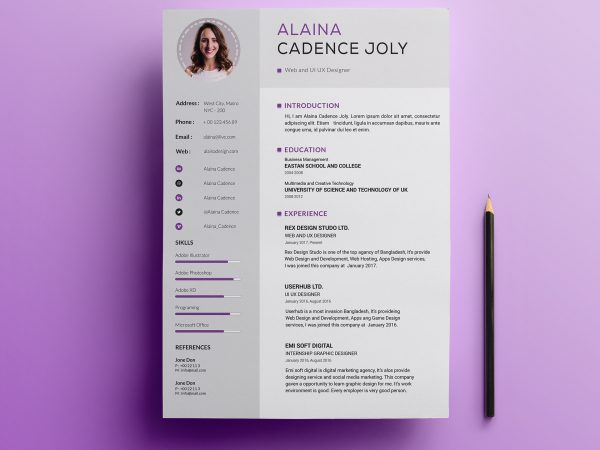Free Resume & CV Templates in Sketch Format 2019 | ResumeKraft
