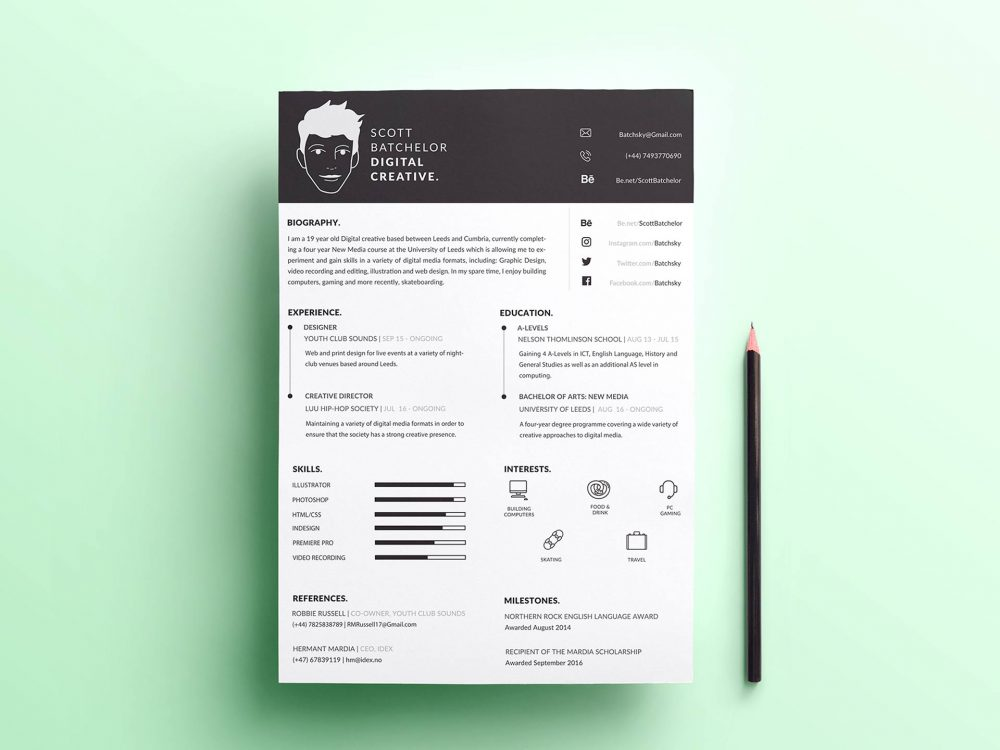 Free A4 Resume Template