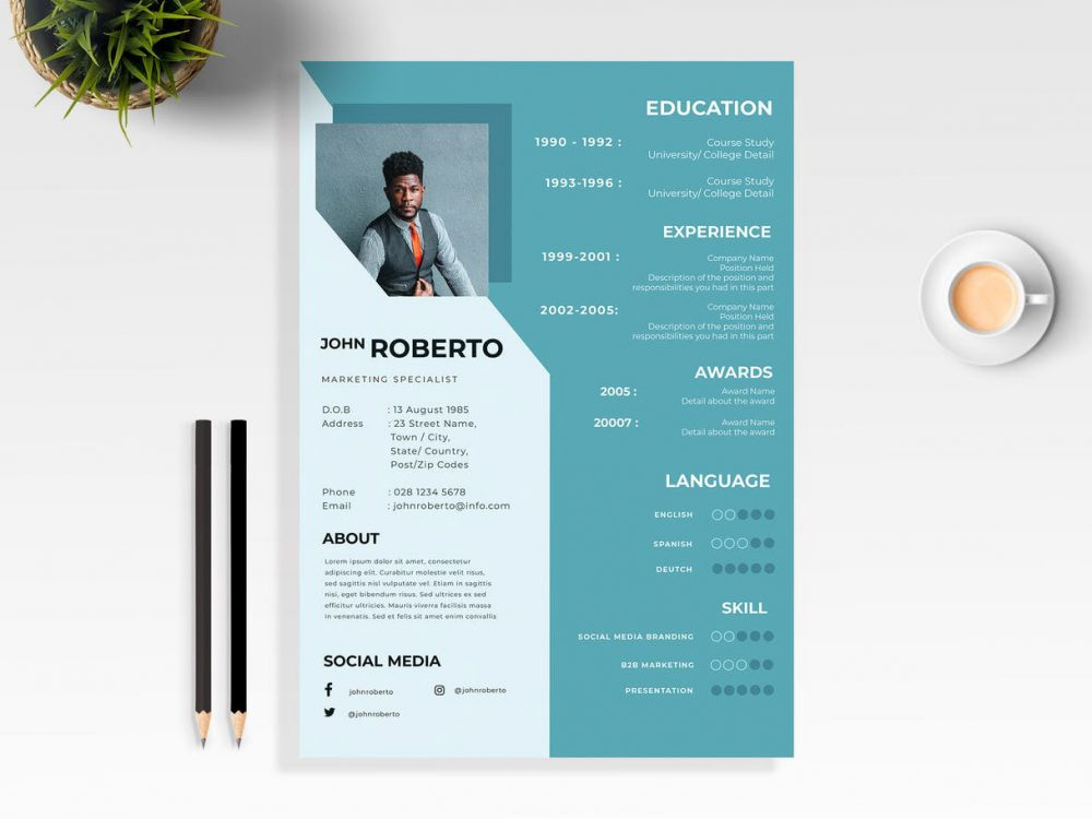 Modern Resume Free Template Resumekraft