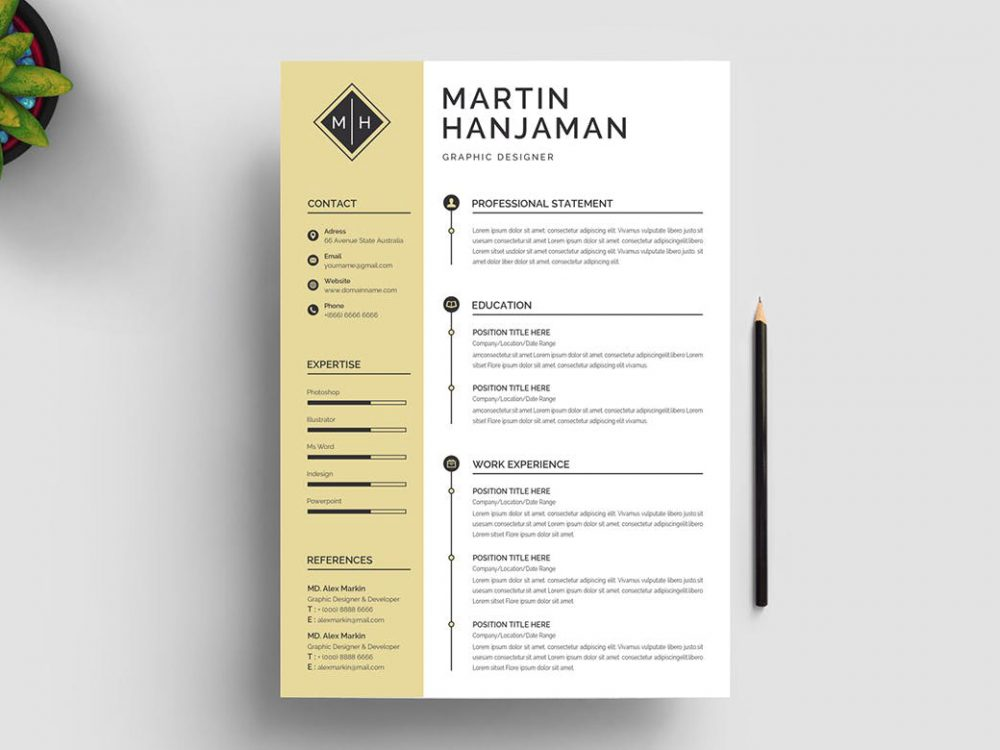 Word Resume Template free Download - ResumeKraft