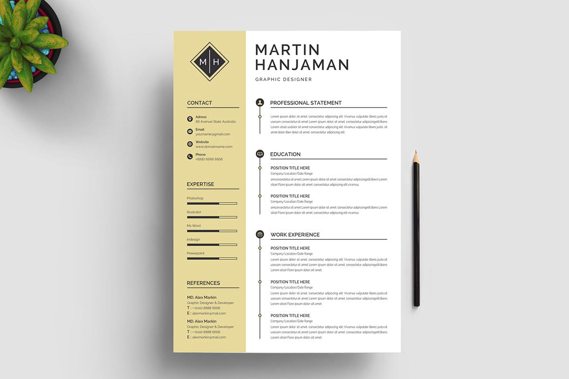 Word Resume Template Free Download Resumekraft