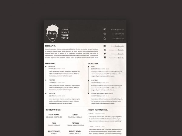 Free A4 CV Resume Template