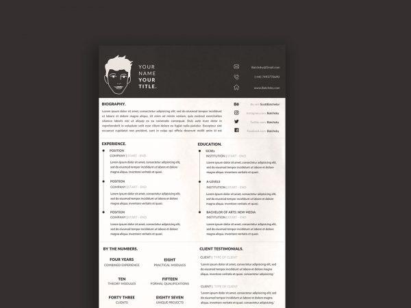 Free A4 CV Resume Template
