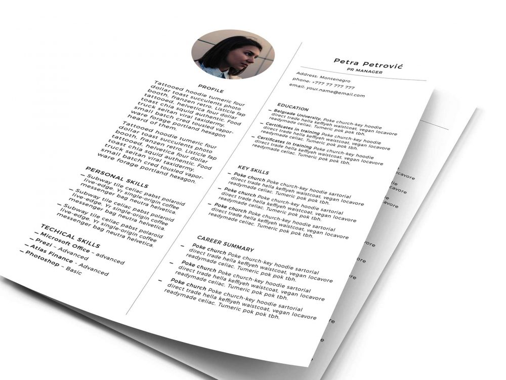 Print Ready Resume Template Free PSD - ResumeKraft