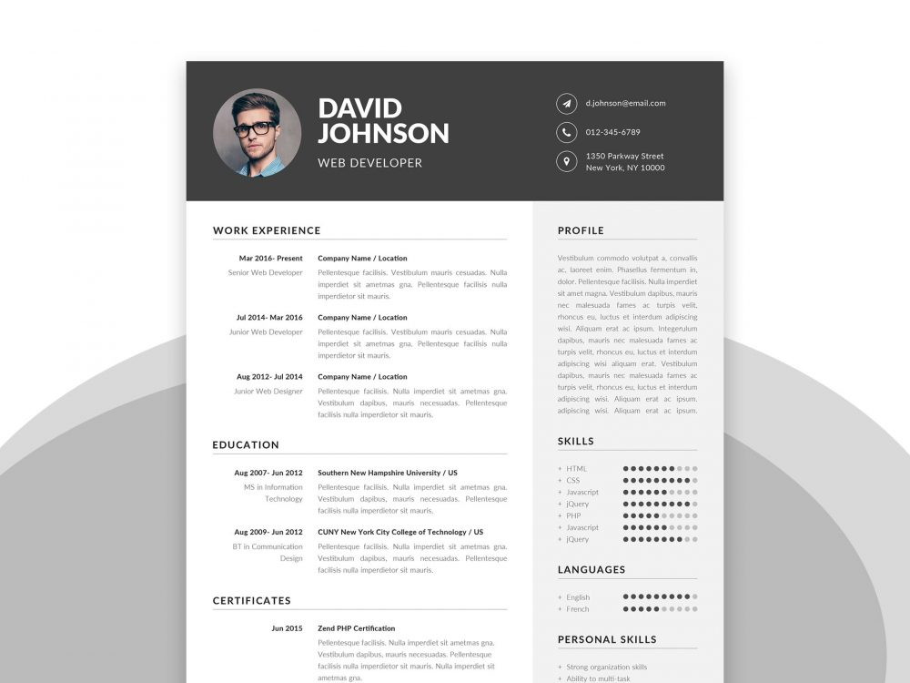 Free Resume Template in Word