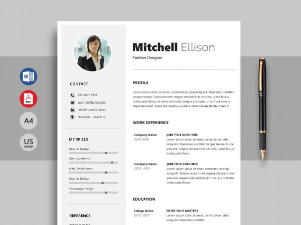 free resume  u0026 cv templates in word format 2019