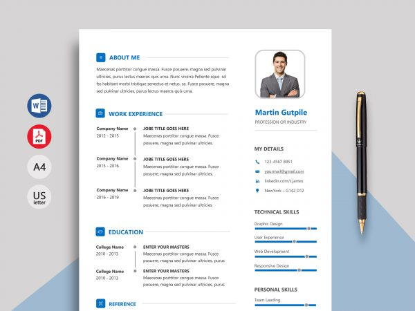 resume template docx