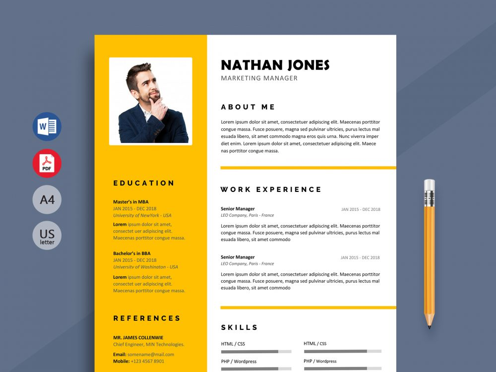 Shout Modern Resume Template Word Format Resumekraft