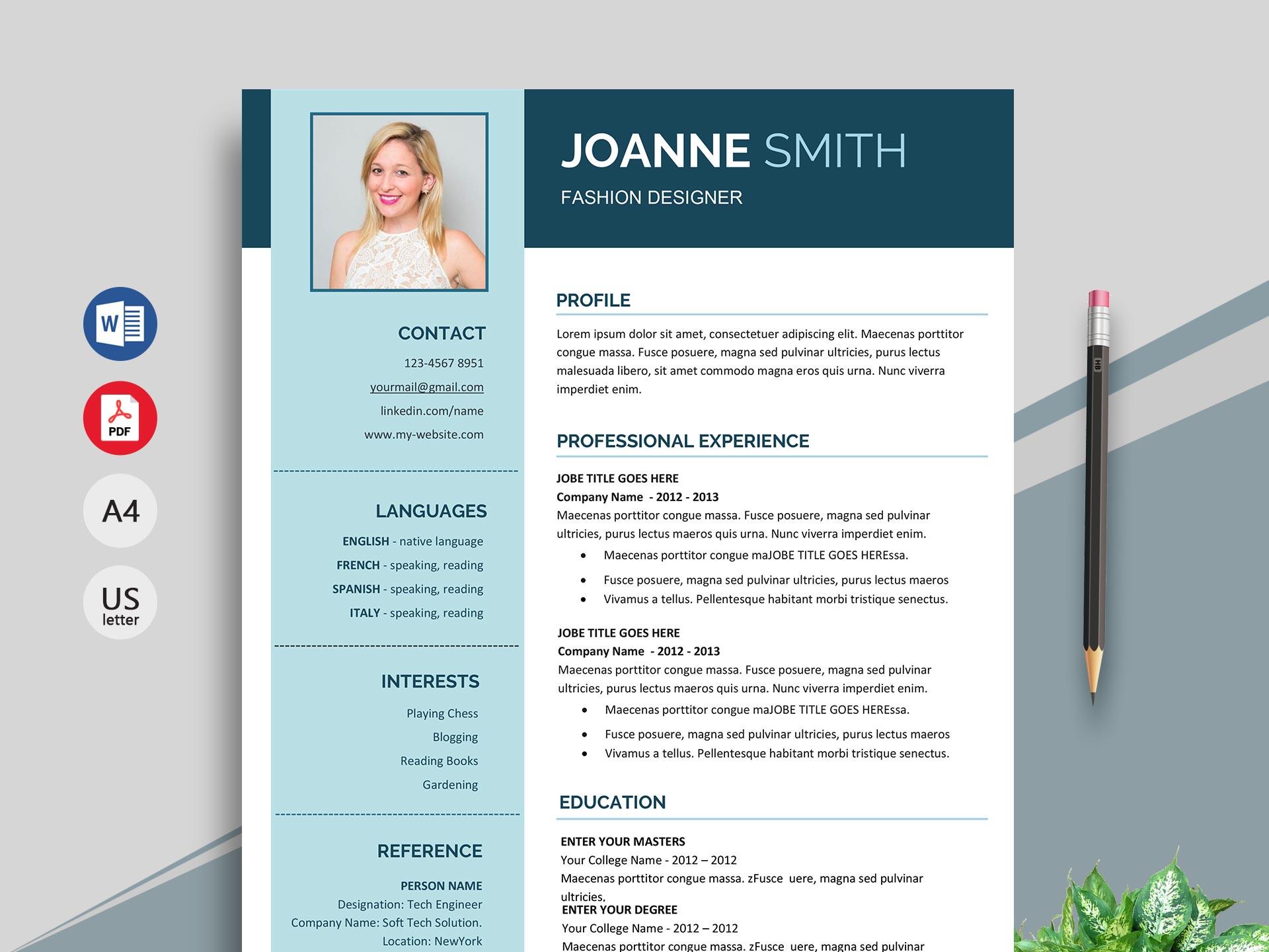 Superb Resume Template In Word Format Resumekraft