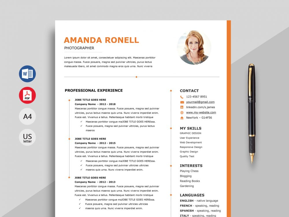 wonder elegant resume template word