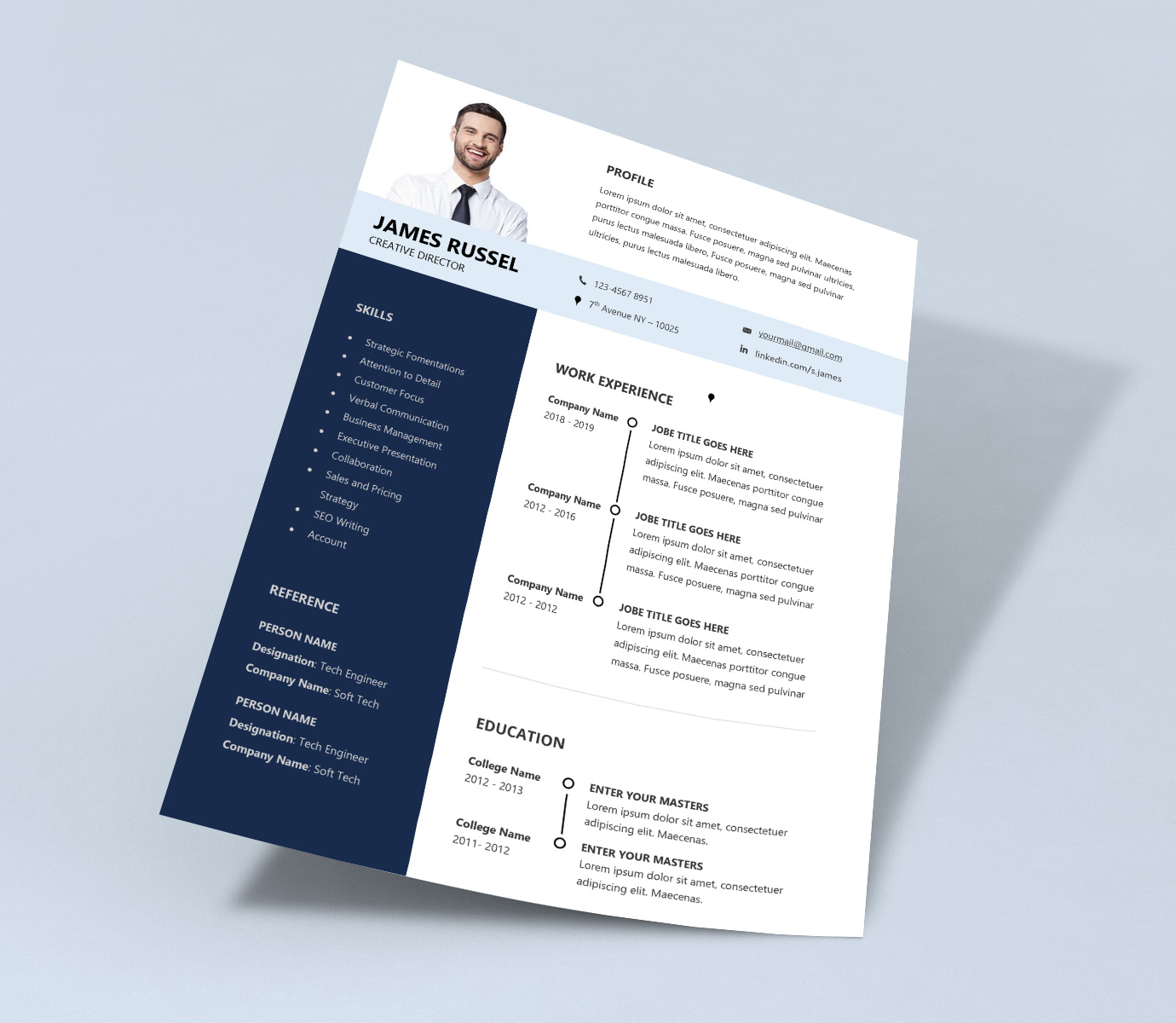 Grand Professional Resume Template Word Doc - ResumeKraft