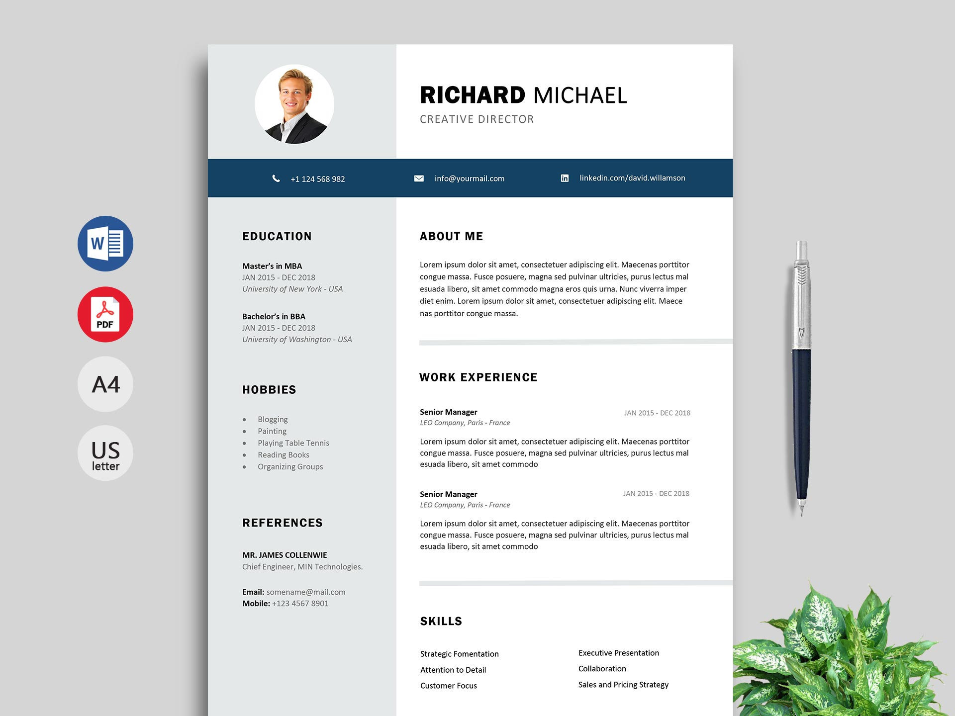 Maestro Creative Resume Cv Template Resumekraft