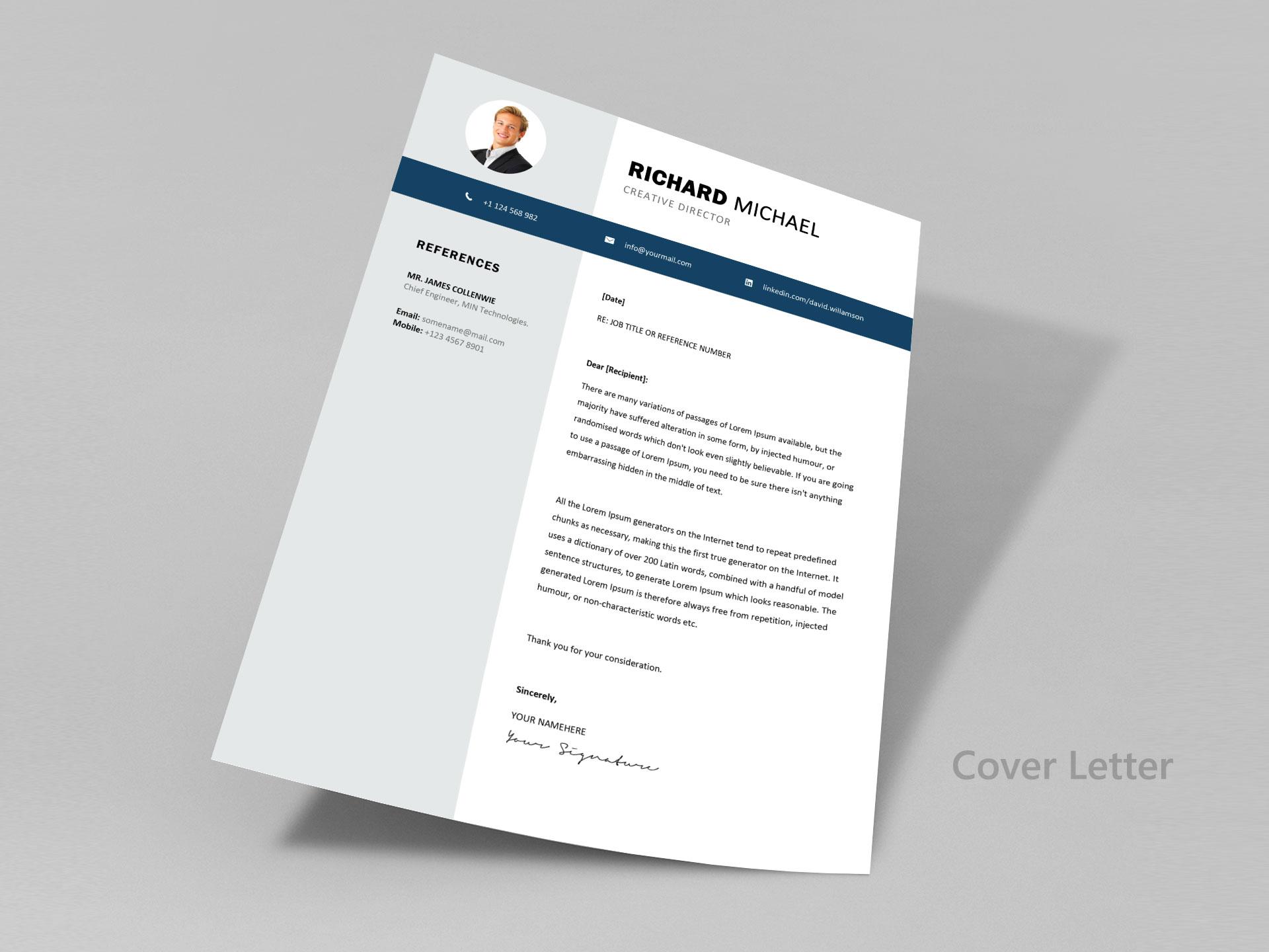 Simple Resume Format Cv Template Free Download 2020