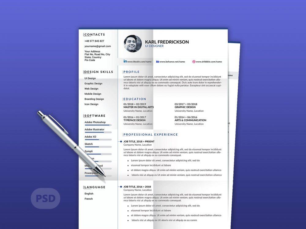 Modern Resume Template With Cover Letter - ResumeKraft