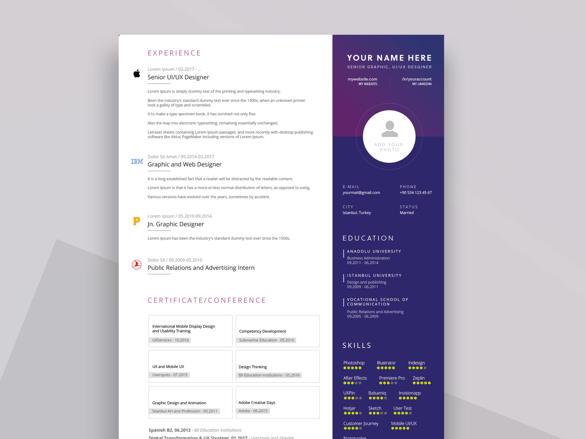 ppt resume template free download