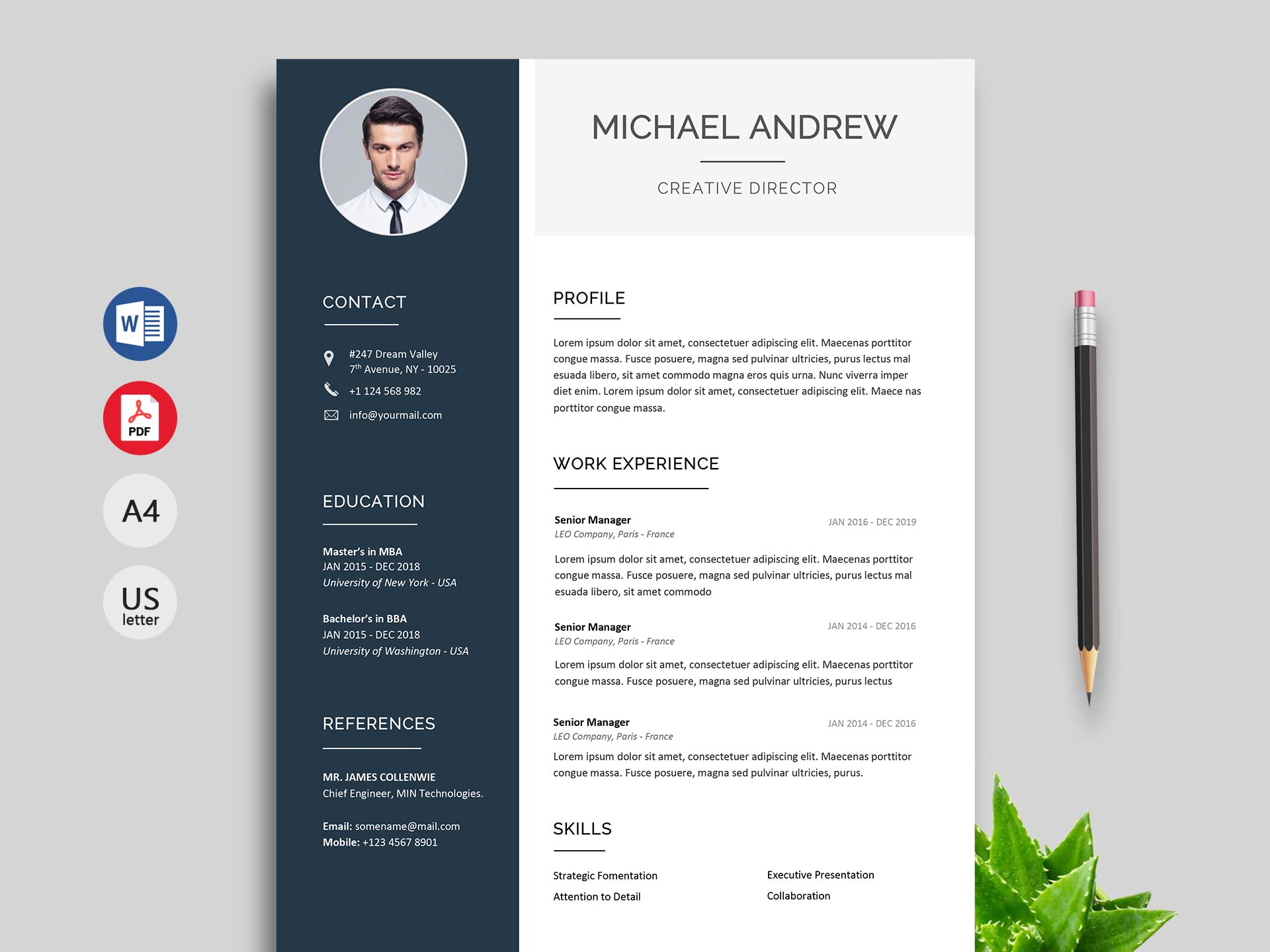 modern resume  u0026 cv template free download  2020