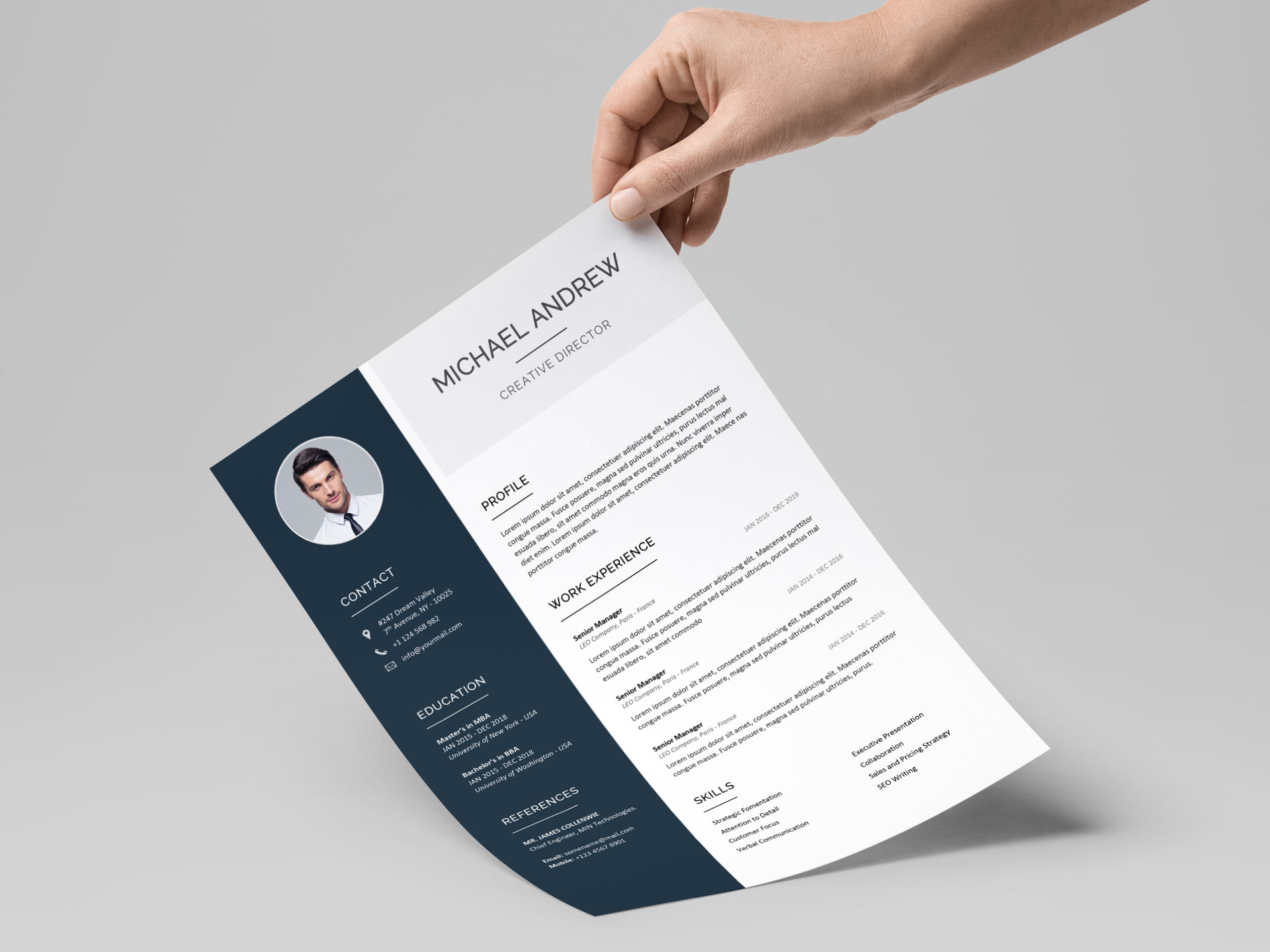 Free Simple Resume Cv Templates Word Format 2020 Resumekraft
