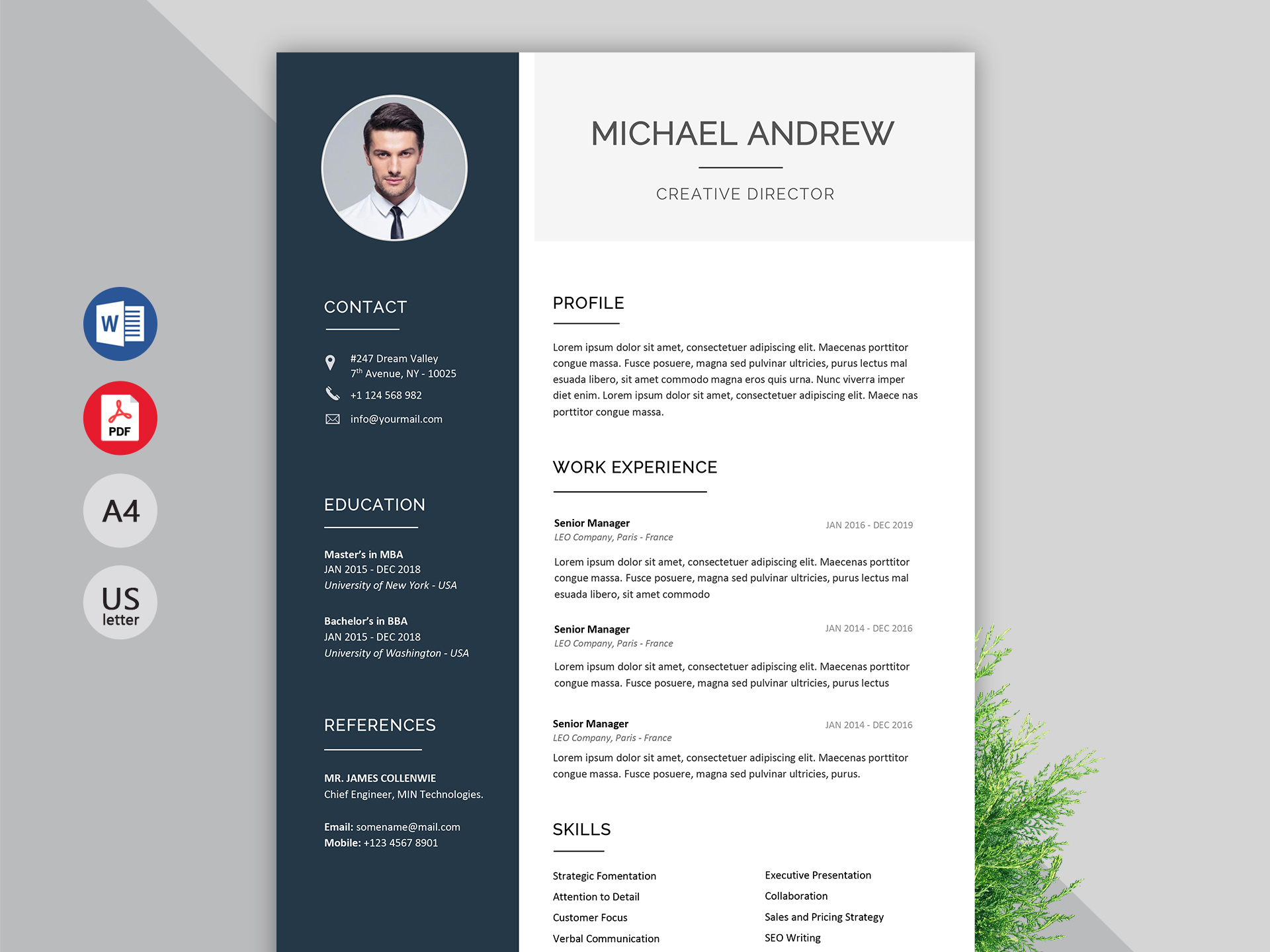 prime resume template ms word file