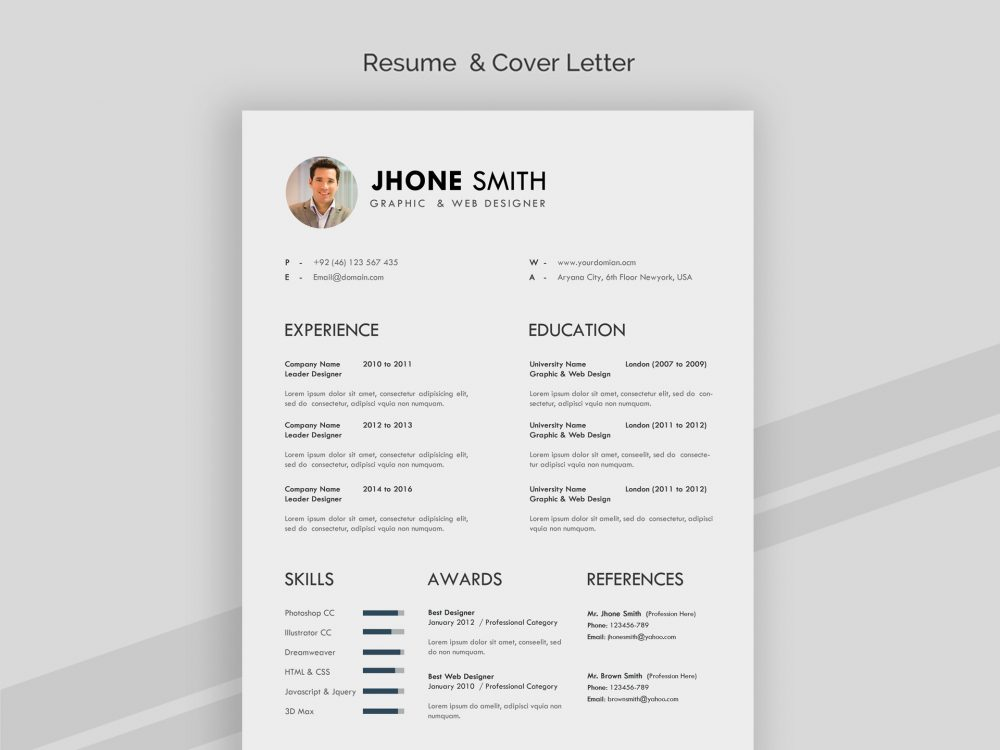 Professional Resume Template in Word and PSD - ResumeKraft