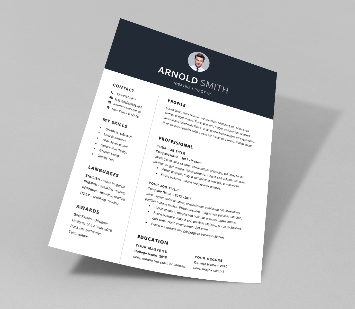 super clean resume template word file