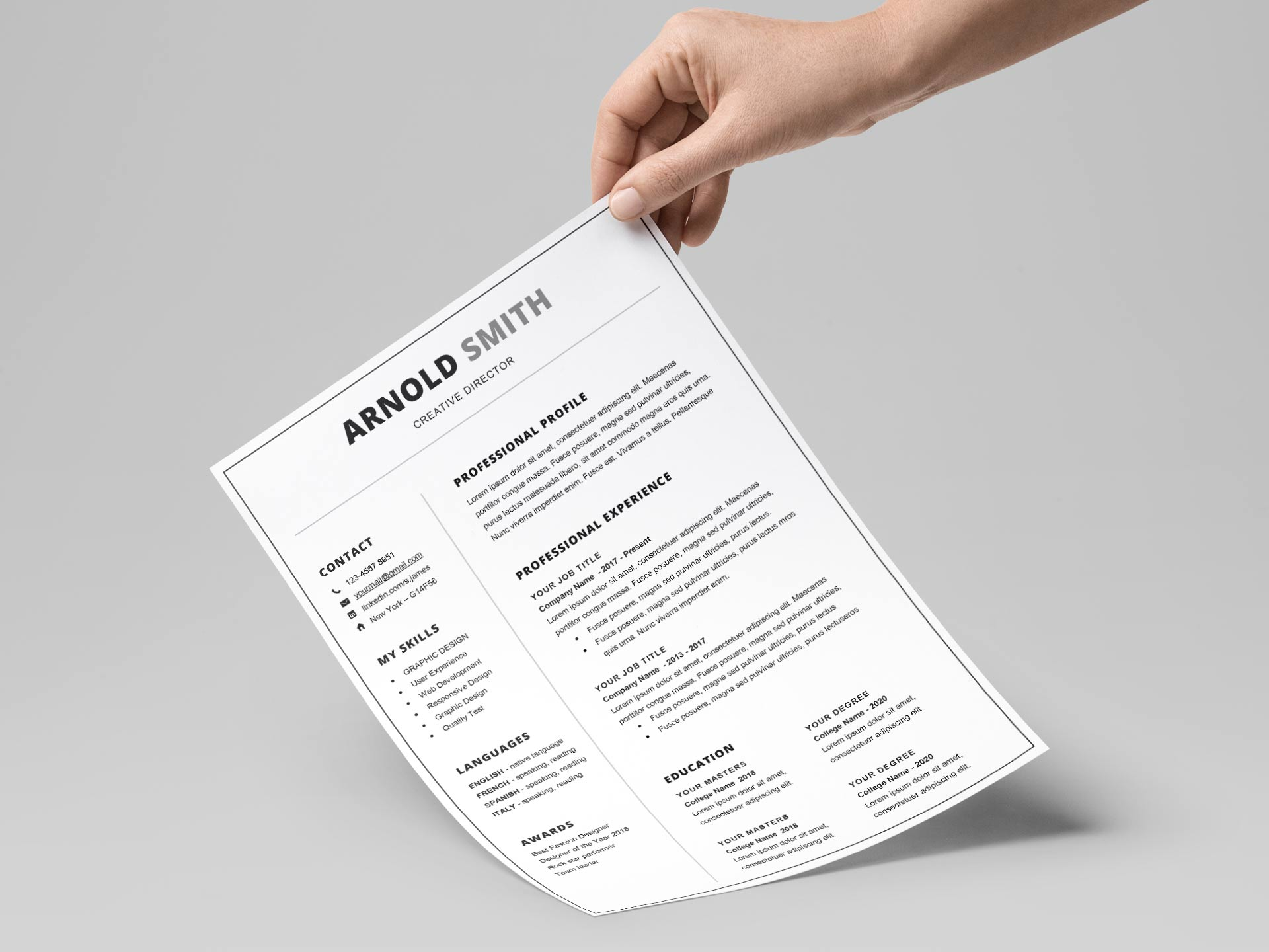 Free Simple Resume & CV Templates Word Format 2019 | ResumeKraft