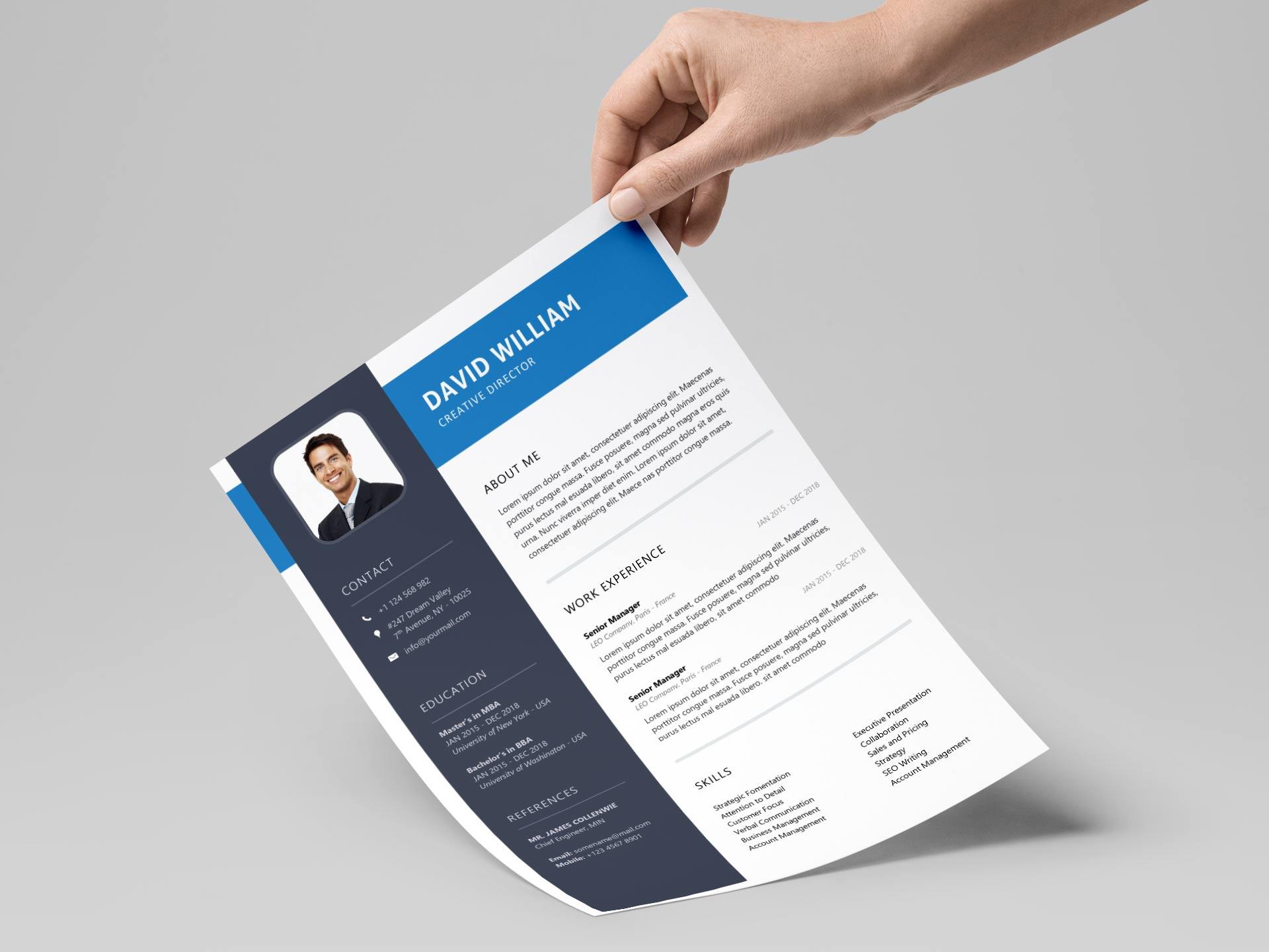 free resume  u0026 cv templates in word format 2020