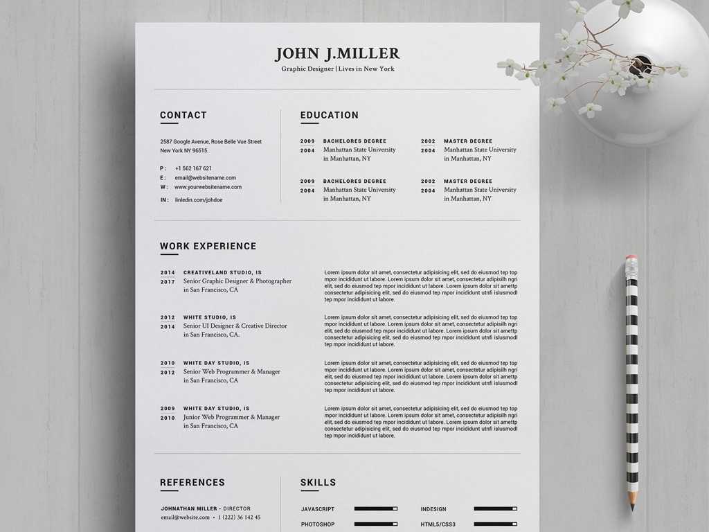 free resume template in word - 2020 year