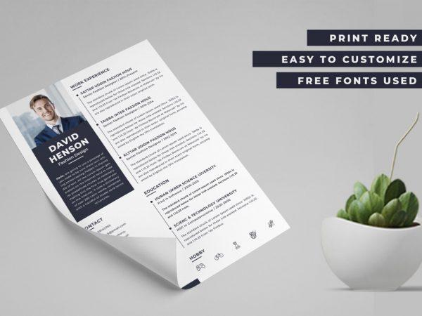 Free Modern PSD Resume